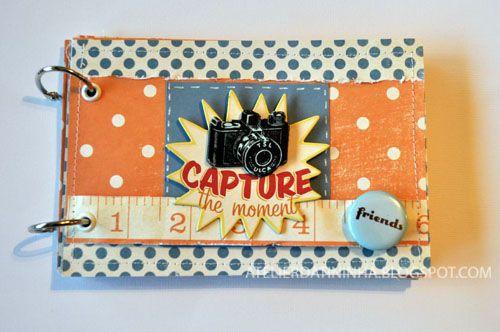 Passo a passo Mini album costurado #tutorial #DIY #scrapbooking #papercraft
