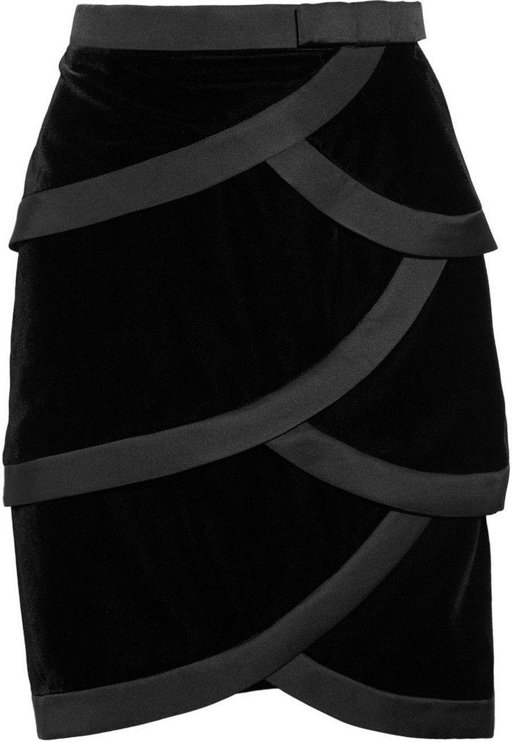 #net-a-porter.com         #Skirt                    #Valentino� �Satin-trimmed #tiered #silk-velvet #skirt� �NET-A-PORTER.COM     Valentino� �Satin-trimmed tiered silk-velvet skirt� �NET-A-PORTER.COM                                   http://www.seapai.com/product.aspx?PID=809591