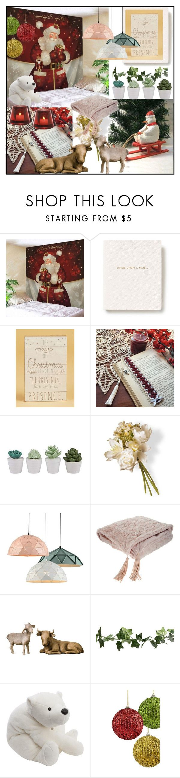"""""""Home Decor Christmas Gifts"""" by din-sesantadue ❤ liked on Polyvore featuring interior, interiors, interior design, home, home decor, interior decorating, Smythson, National Tree Company, Willow Tree and Christian Dior"""