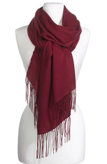 Nordstrom Tissue Weight Wool & Cashmere Wrap | Nordstrom - This scarf comes in 40 vibrant, rich colors, so you will be able to match any coat or outfit.  It is also large enough to wear as a wrap, or shawl.  If you need to learn how to tie a scarf, go to Scarves & Wraps on Nordstrom.com and then click on the Scarf-Tying Video.