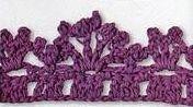 Patrón #1420: Puntilla a Crochet | CTejidas [Crochet y Dos Agujas]