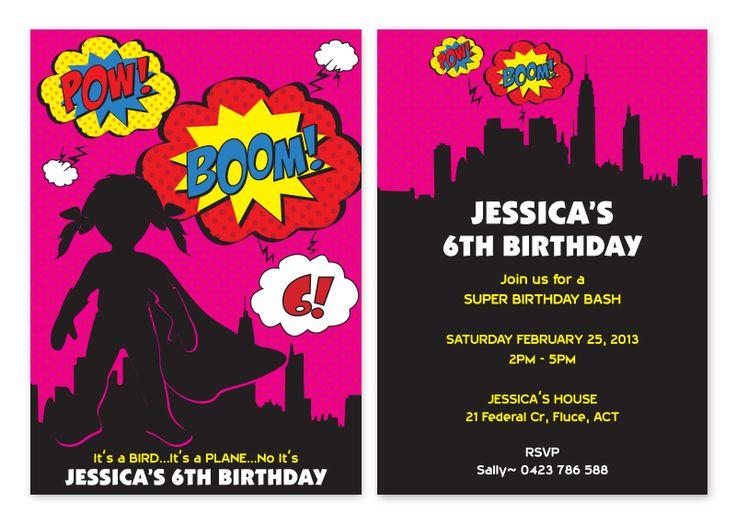 Более 25 лучших идей на тему «Personalised party invitations» на - birthday invitation card template free download