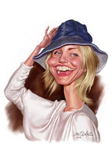 Cameron Diaz  Artist: Amir Taqi website: http://www.irancartoon.com/daily/Amir.htm