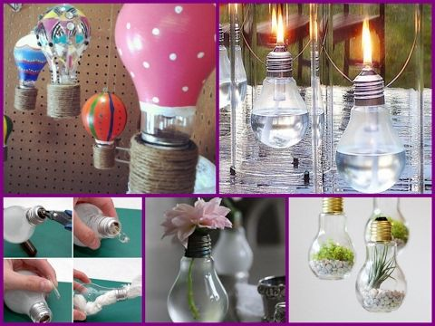 25 DIY Ideas For Recycling Old Light Bulbs - Easy Room Decorations