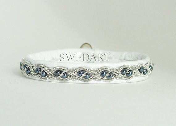 SwedArt B20 Aurora Lapland Sami Leather Bracelet by SwedArt