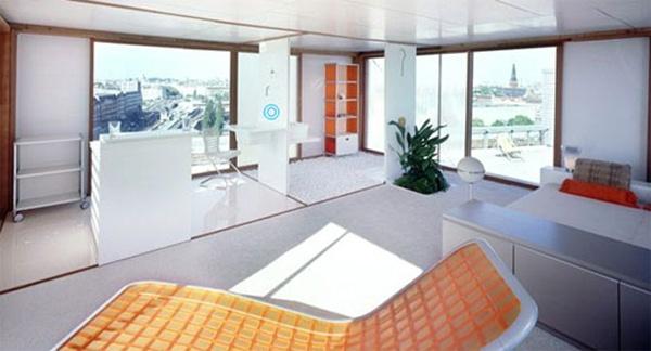 Minimalist Prefab Loft Cube House Interior Area with Modern Style ...