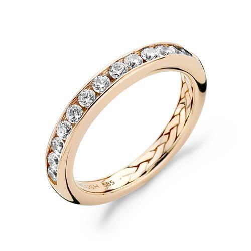 1048RZI/56 €379,00  Specificaties    merk:   Blush   soort artikel:   sieraad   type sieraad:   ring   maat:   56   materiaal:   rosé goud, zilver   geslacht:  dames