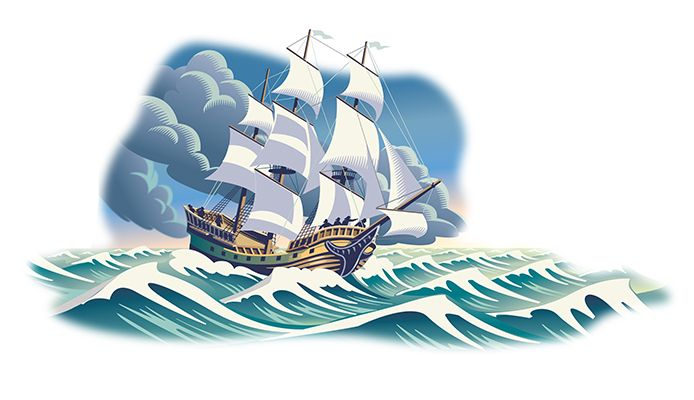 Stormy Seas. Illustration by Gary Alphonso. Represented by i2i Art Inc. #i2iart