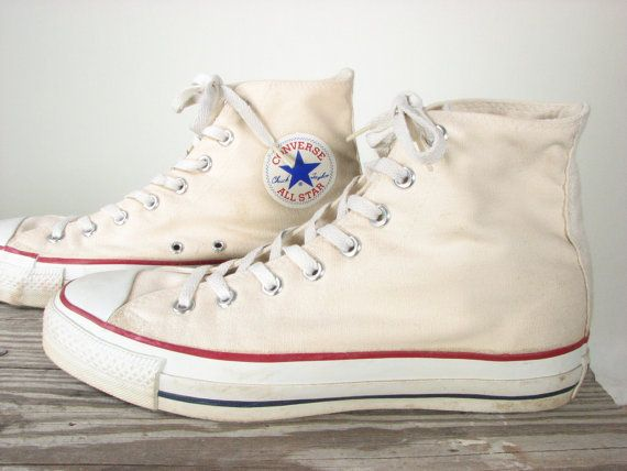 Vintage White Chuck Taylor Converse High Top by snootieseconds, $149.99