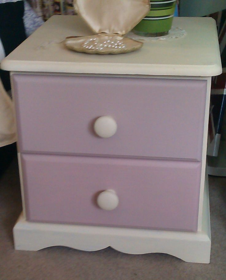Two drawer chest of drawers, painted and waxed. Beautiful useful item. £45