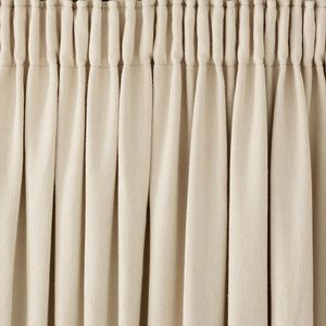 Lynton Natural Pencil Pleat Ready Made Curtains