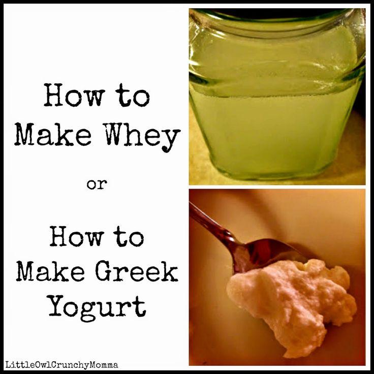 LittleOwlCrunchyMomma: How to Make Whey (aka How to Make Greek Yogurt)