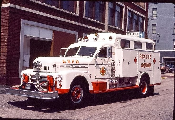 .1957 Seagrave rescue squad. One of a kind built for Grand Rapids, Mi FD.....