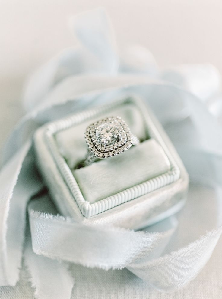 Stunning round-cut double halo setting diamond ring: Photography : Mariel Hannah Read More on SMP: http://www.stylemepretty.com/?p=746436
