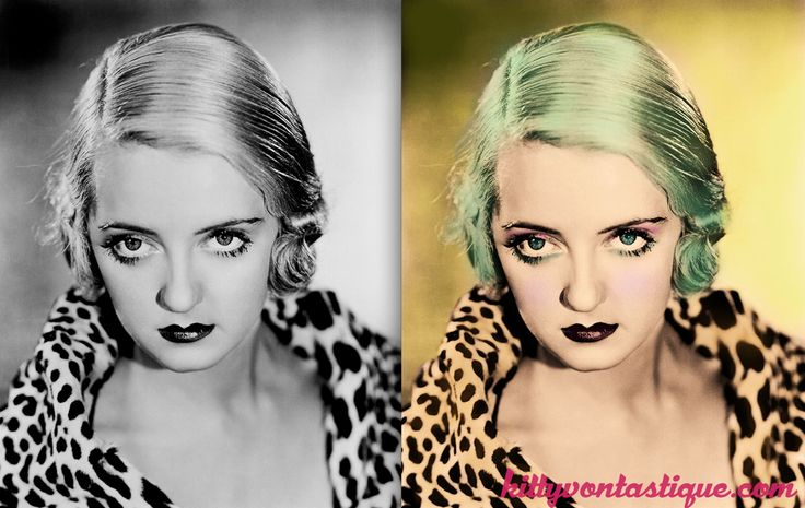 Betty Davis - Altered Vintage Imagery - The Reimagining of Icons Past kittyvontastique.com Betty Davis reimagined with mermaid green hair in her alternative modern version
