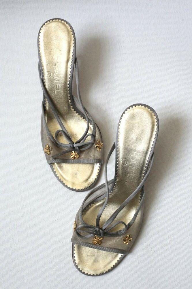 Chanel Gold Kitten Heels Lucky Clover Motif Size 38 Uk 5 5 Kitten Heels From Ebay Uk Kittenheels Heels 0 99 0 Bi Gold Kitten Heels Kitten Heels Heels