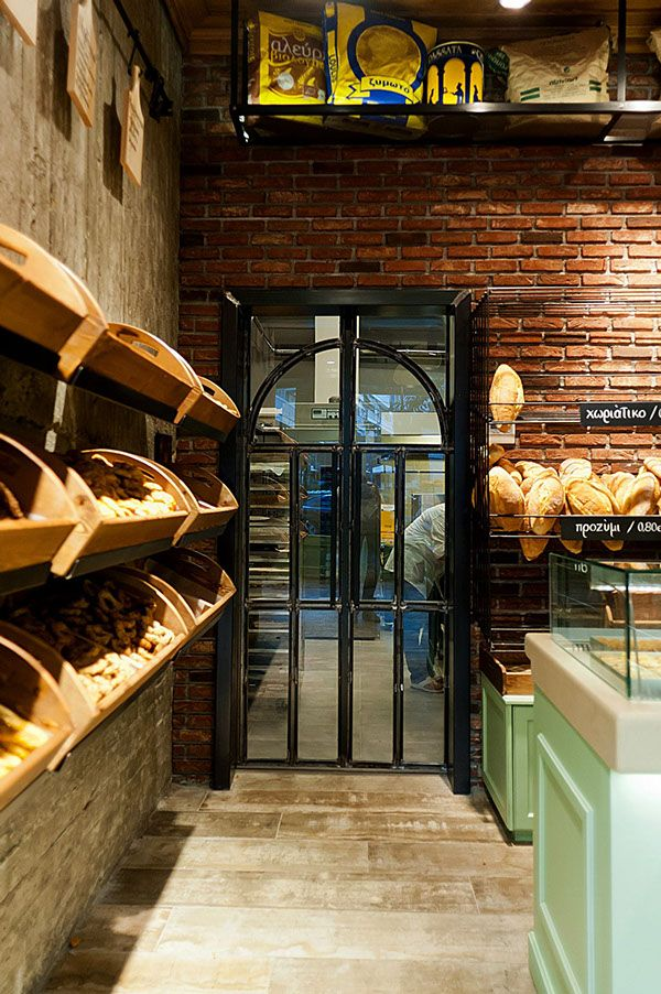different angle on previously posted bakery design Constantinos Bikas interior  designer - Kogia bakery by Konstantinos Bikas, via Behance
