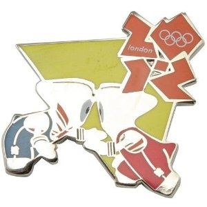 Price: $8.95 - Olympics London 2012 Olympics Mascot Wrestling Pin - TO ORDER, CLICK THE PHOTO