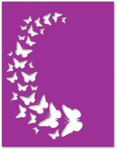 Silhouette Online Store - View Design #61898: butterfly spray overlay