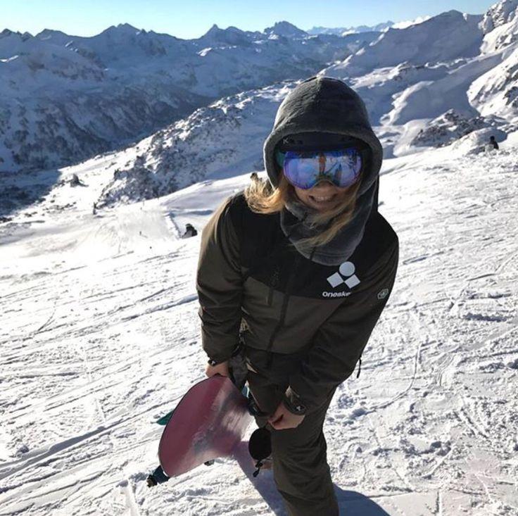 Oneskee BA Pilar in her Olive Green Mark III  www.oneskee.com  #pow #skiingislife #ski #zipup #mountains #onesie #oneskee #skisuit #skistyle #winter #powpow #steez #slopestyle #winterstyle #snowsports #snowboard #snowkiting