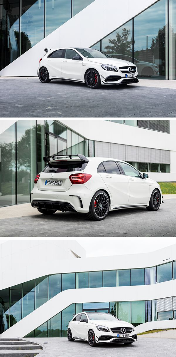 Efficiency champion - the Mercedes-AMG A 45 4MATIC. Photos by Christopher Busch (www.christopher-busch.com) for #MBsocialcar [Mercedes-AMG A 45 4MATIC   Fuel consumption combined: 7.3–6.9 l/100km   combined CO₂ emissions: 171–162 g/km   http://mb4.me/efficiency_statement]