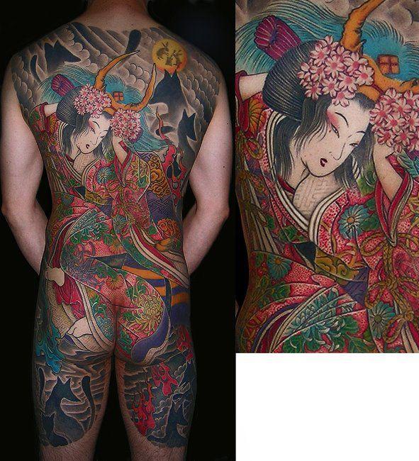 Artist : Kenji Shigehara #geisha #irezumi #backpiece #tattoo