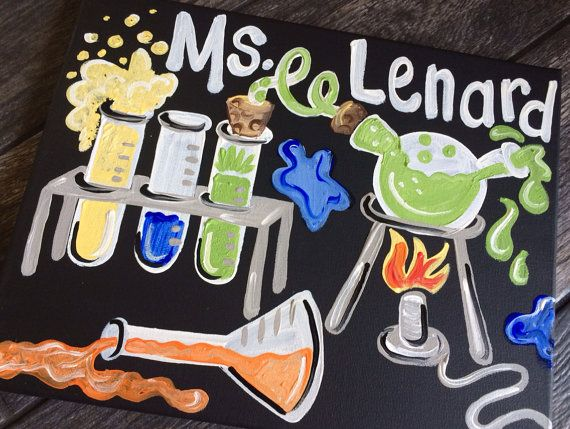 Teacher Gift  Hand Painted  Teacher Door Sign by MelanieLupien, $24.00