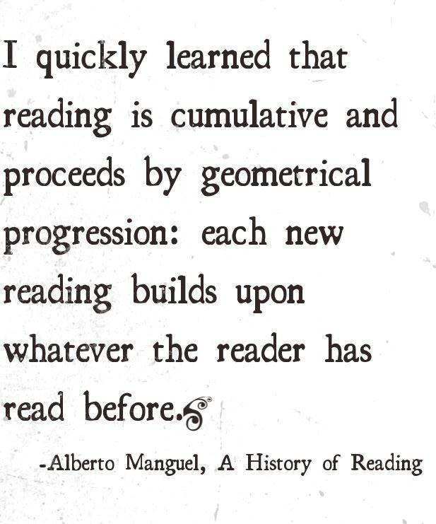 """#Quote Alberto Manguel, """"A History of Reading"""" #Zitat. Der kanadische Autor war 2003 Samuel Fischer Gastprofessor für Literatur an der Freien Universität Berlin."""