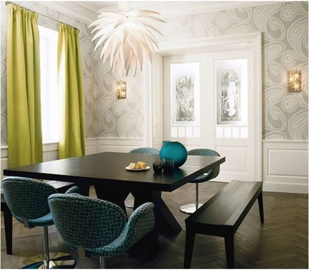 Paisley Wallpaper Kate Hume · Decorating Dining RoomsRoom Decorating IdeasInterior  DecoratingDining TablesDining Room SetsFormal Dining ...
