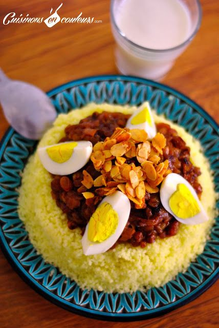 Couscous Tfaya, le couscous aux oignons et raisins secs caramélisés