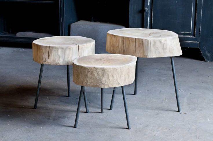 Boomstam salontafel Tronco - ROBUUSTE TAFELS! Direct uit voorraad of geheel op maat >>