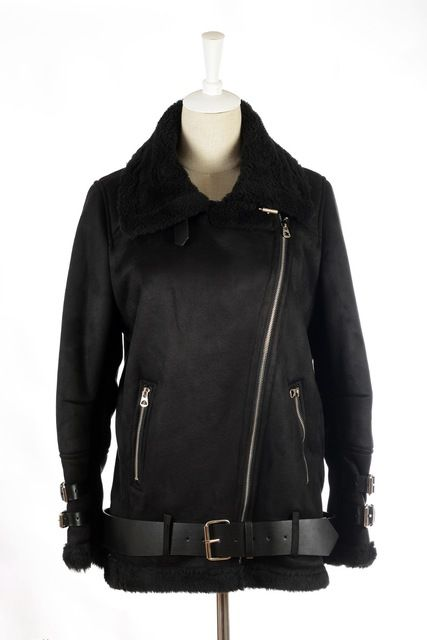 Women Real Rabbit Fur Faux Leather Berber Patchwork Short Suede Shearling Coats Zipper Clothing Vintage Motorcycle Jacket US $66.49 To Buy Or See Another Product Click On This Link  http://goo.gl/Ln6ntd