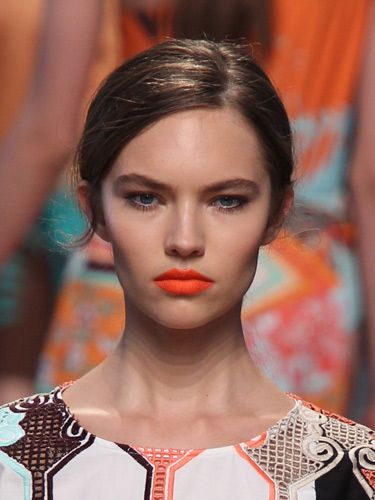 "Orange Lips - MSGM SS14 ""Kaleidoscope, Tropical Sundae"" by Val Garland"
