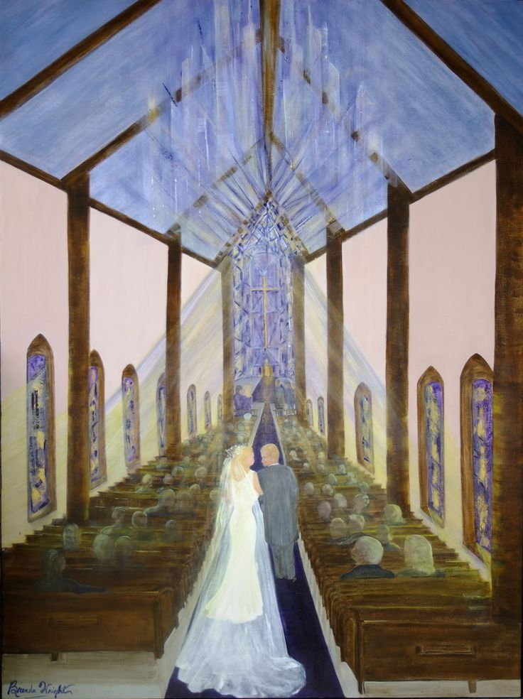 'Presenting the Bride' - a depiction of the Father presenting the Bride - based on Eph. 5:31, 32
