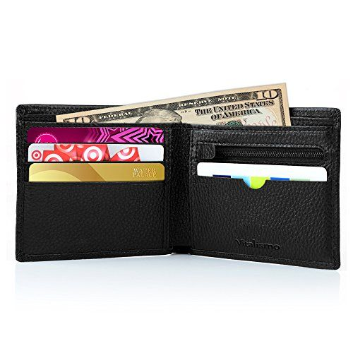 Wallets for Men, Vitalismo Checkbook Wallet PU Leather Money Clip Rfid Blocking Bifold Wallet for Men - Men's Bifold Wallet, best gift for you: As we all know, everyone needs a wallet to keep your money and cards, and nowadays, a security wallet becomes more and more important. Vitalismo is a manufacturer that specialized in high quality clothes and bags. We aim at providing the best products and s...