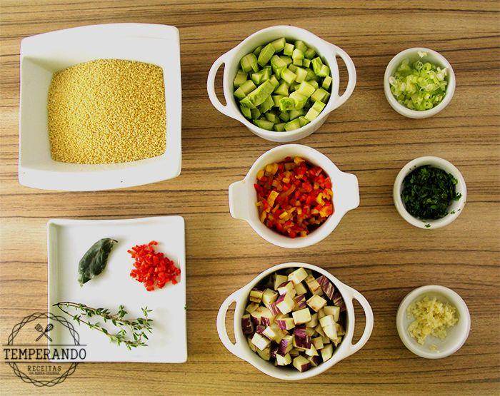 COUSCOUS MARROQUINO COM LEGUMES -- simples. prático e delicioso   temperando.com #couscous #light #receitavegetariana