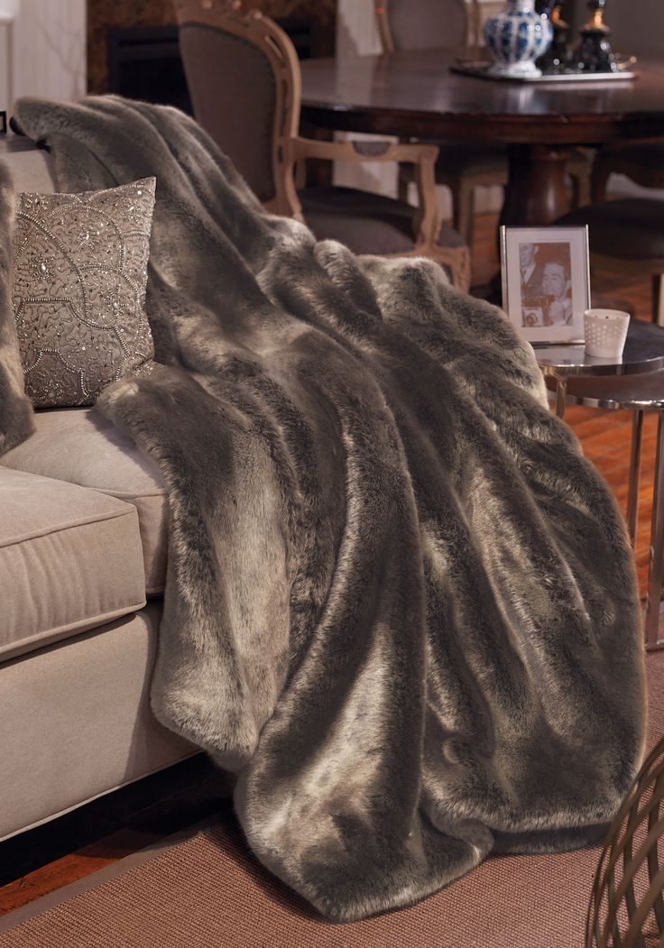 InStyle Decor.com Luxury Fashion Designer Faux Fur Throws, Blankets,  Pillows U0026
