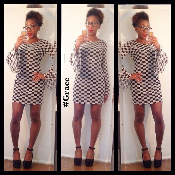 Selling this Checkered Dress on Poshmark! My username is: iluvgrace. #shopmycloset #poshmark #fashion #shopping #style #forsale #Ark & Co #Dresses & Skirts