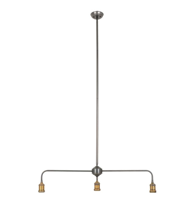 Manor 3 Light Bar Pendant Frame in Aged Steel | Manor Mix 'n' Match Range | Pendant Lights | Lighting