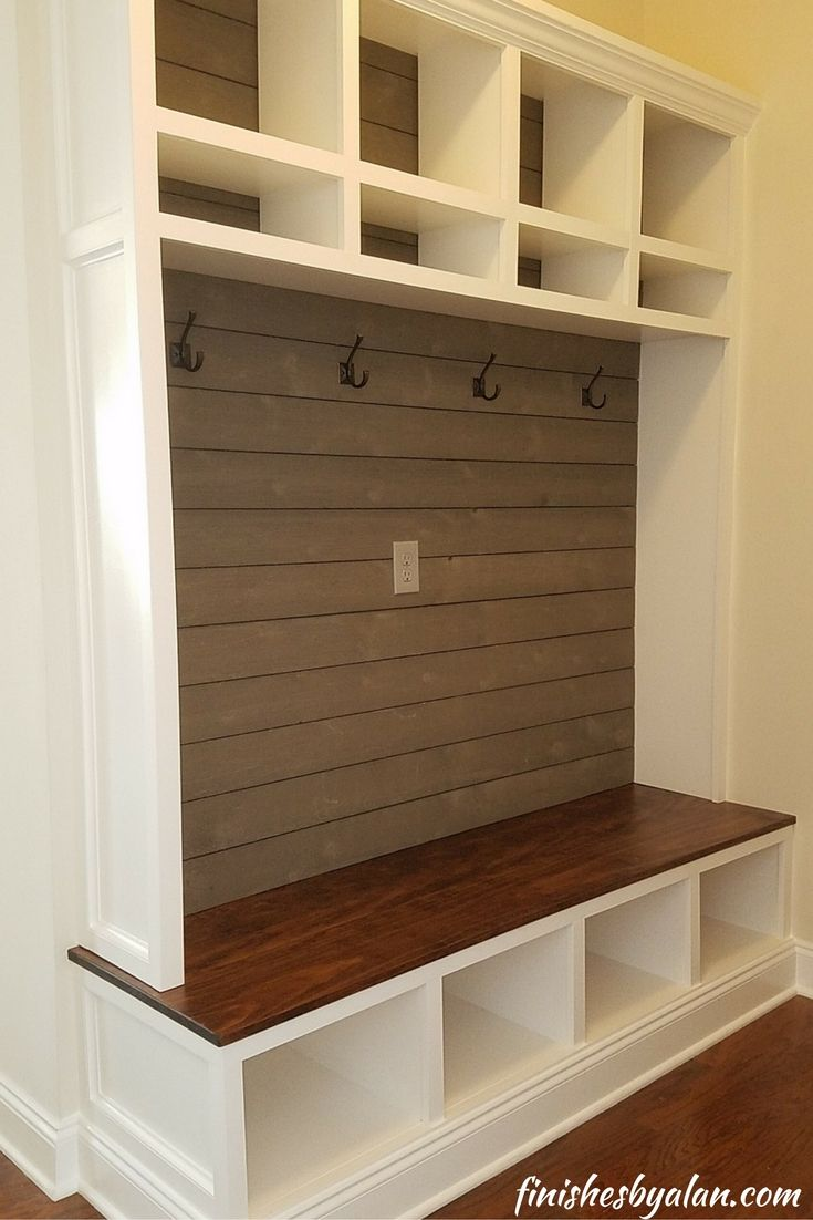Mudroom Bench With Grey Shiplap Mudroom Bench Mudroom