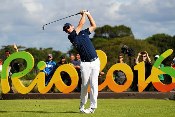 Justin Rose representing Team GB at Rio 2016