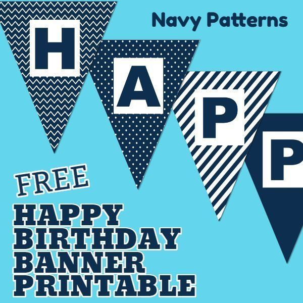 Free Happy Birthday Banner Printable 16 Unique Banners For Your Party In 2020 Happy Birthday Banner Printable Happy Birthday Banner Printable Free Printable Birthday Banner