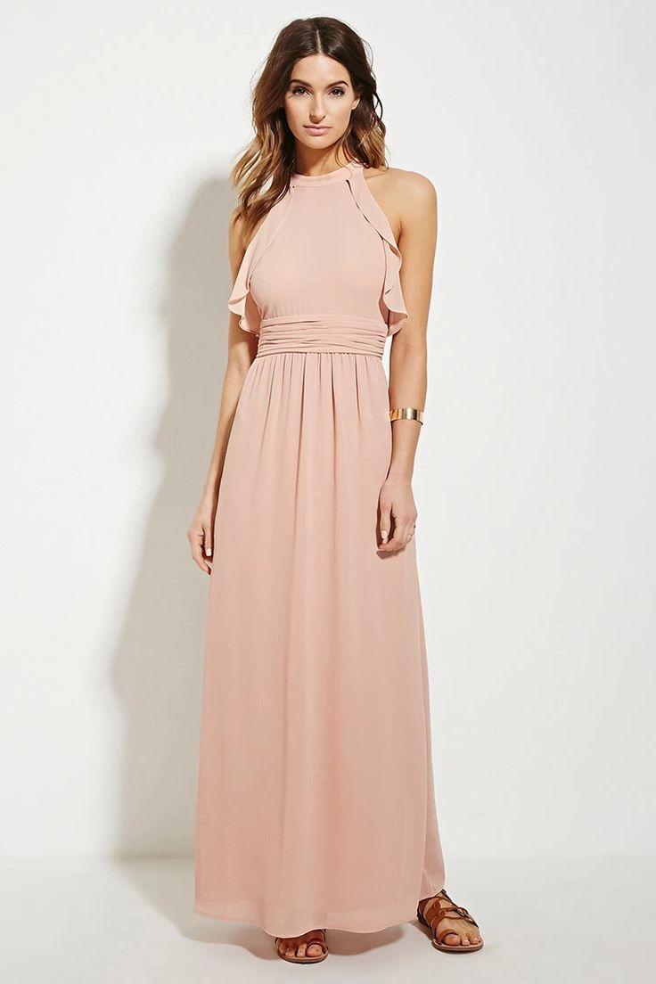 Contemporary Ruffle Maxi Dress | LOVE21 #f21contemporary