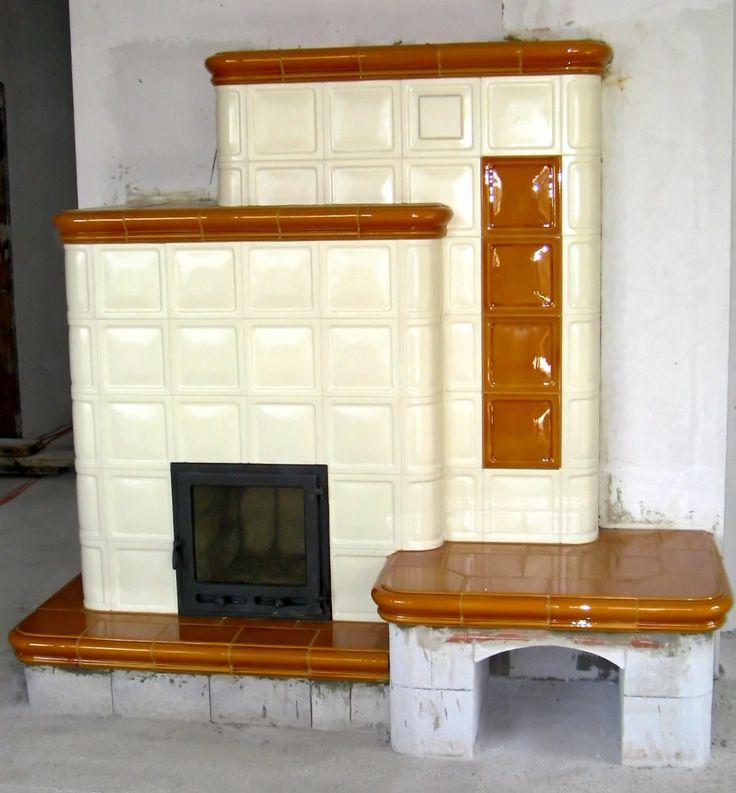 Egyedi tervezésű,fatüzelésű cserépkályha ülőpadkával