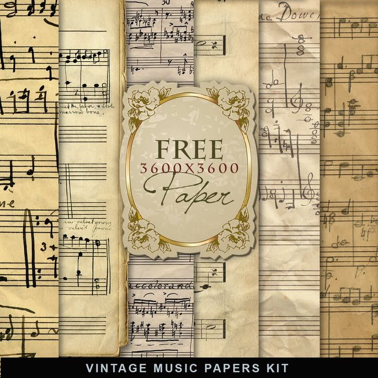 Far Far Hill - Free database of digital illustrations and papers: Freebies Vintage Music Papers
