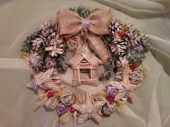 Новогодний венок handmade