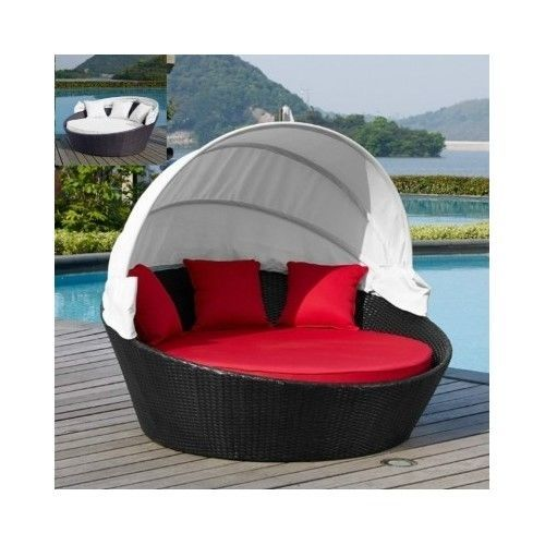 Outdoor-Chaise-Lounge-Daybed-Canopy-Patio-Furniture-Wicker-Sun-Bed-Modern-Double