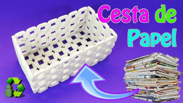 258 best images about trabajos hechos con papel de - Cestas de papel periodico ...