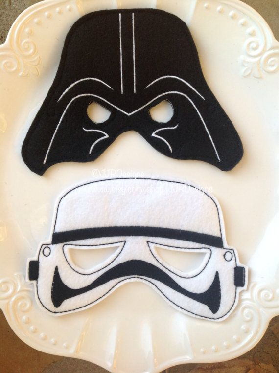 Star Wars Inspired Felties Superhero Masks Lego por JJRDesigns