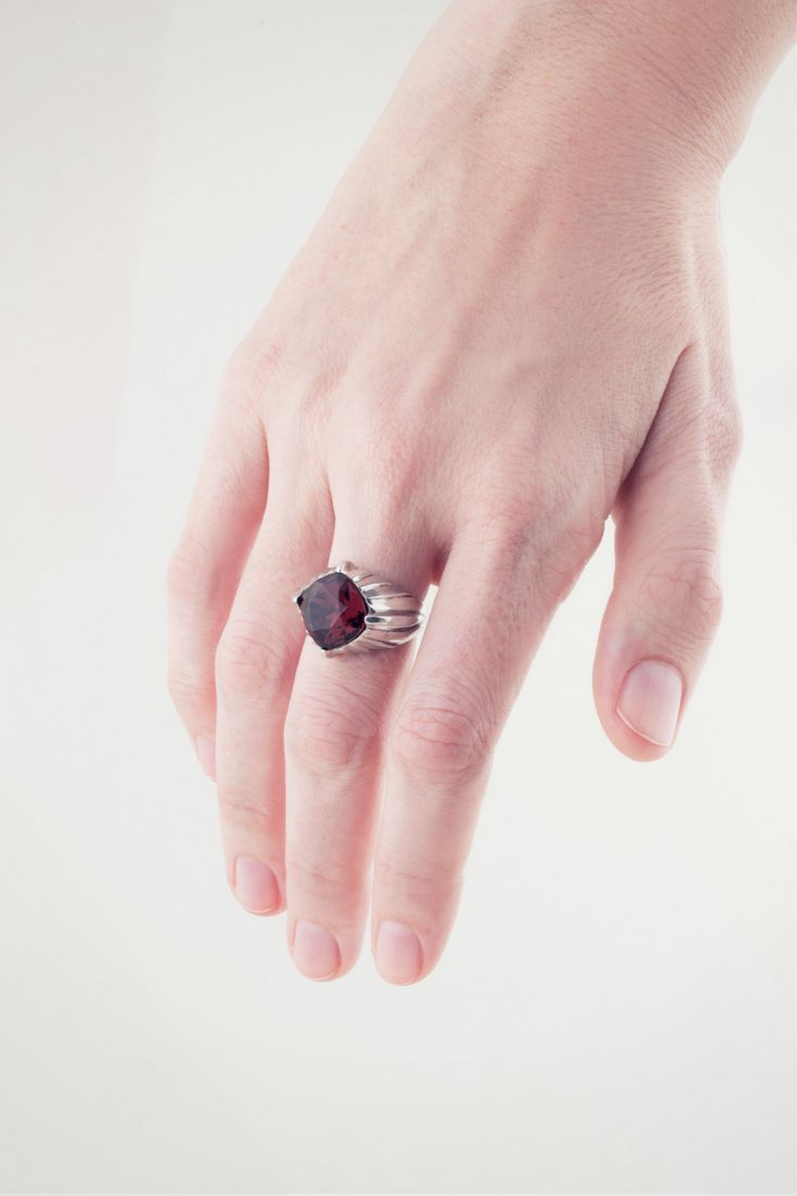 Excuse us while we just find a comfy spot to relax, unwind and stare at our Billy Jean Cocktail Ring...